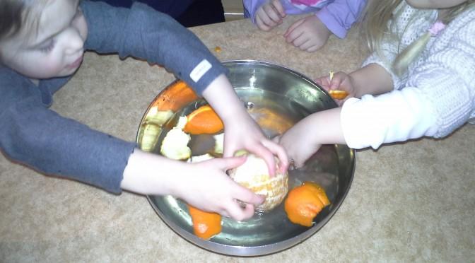 Experiment med apelsin