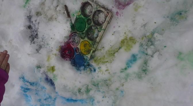 Vi skapar i snön!