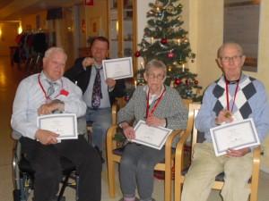 Våra stolta Nobelpristagare Ingemar, Bengt, Eva och Åke