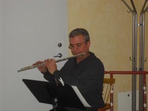 Richard spelade vacker musik under kvällen