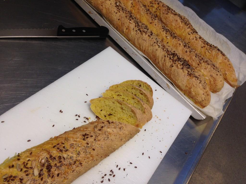 bröd bakat på ris och bulgur