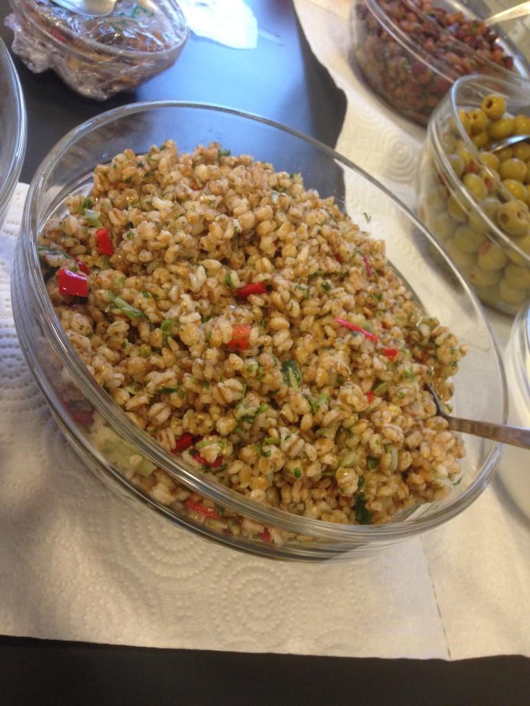matvetesallad med koriander