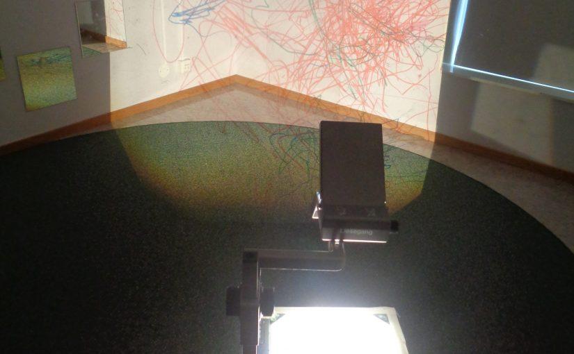 Att rita i ljuset av OH-apparaten
