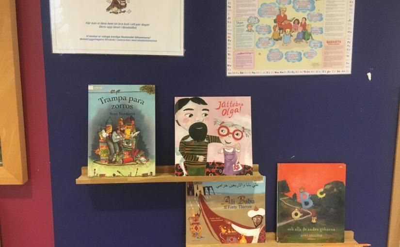 Välkomna att låna böcker i minibiblioteket!