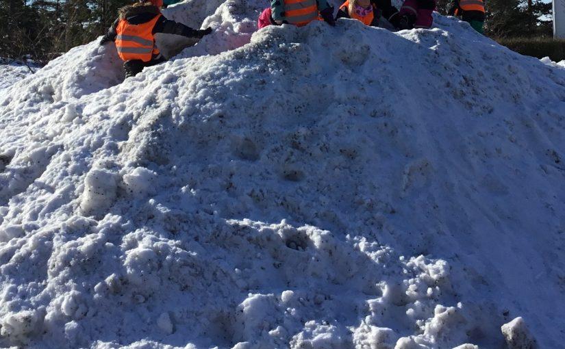 Hur många barn får plats på en snöhög?