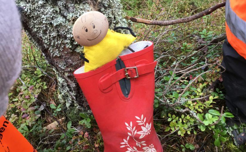 I dag i skogen hittade vi…