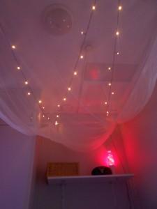 Mysrummet bjuder på lugn musik och mysbelysning.