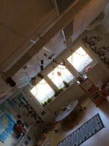Julkalendern som hängde i taket