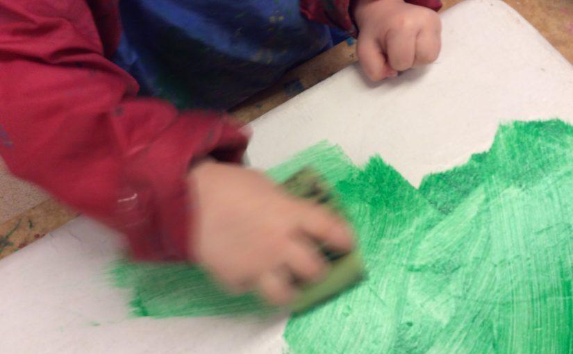 Skapande av dinosauriebord