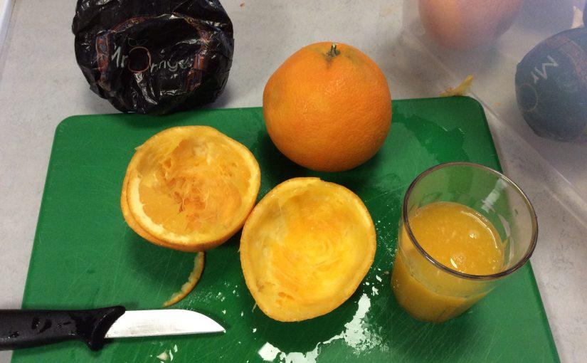 Inga sura miner, bara apelsiner.
