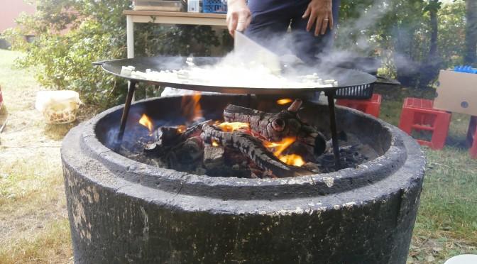 Idag har Valarna lagat mat utomhus
