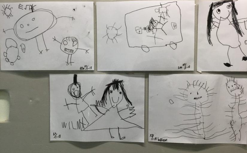 Vi ritar Anna och Erik