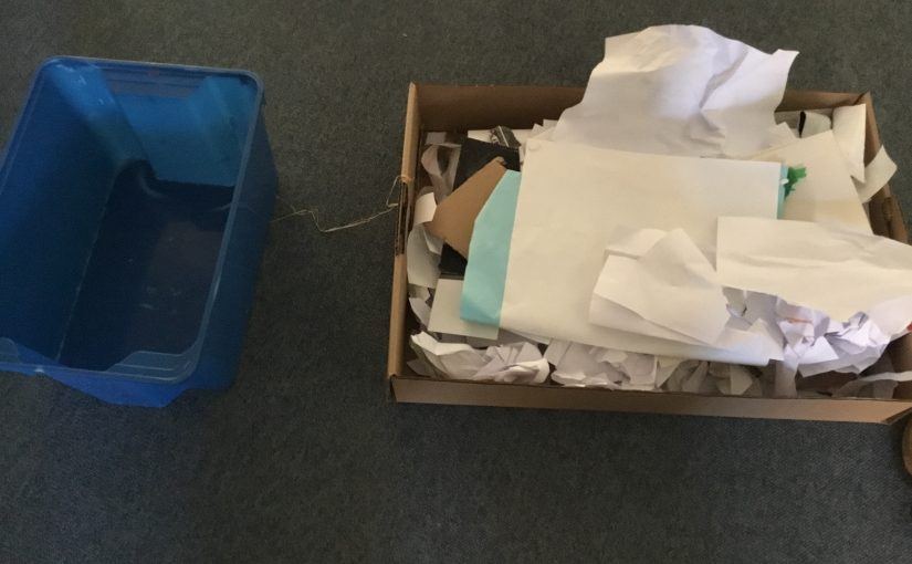 Vi skapar pappersmassa