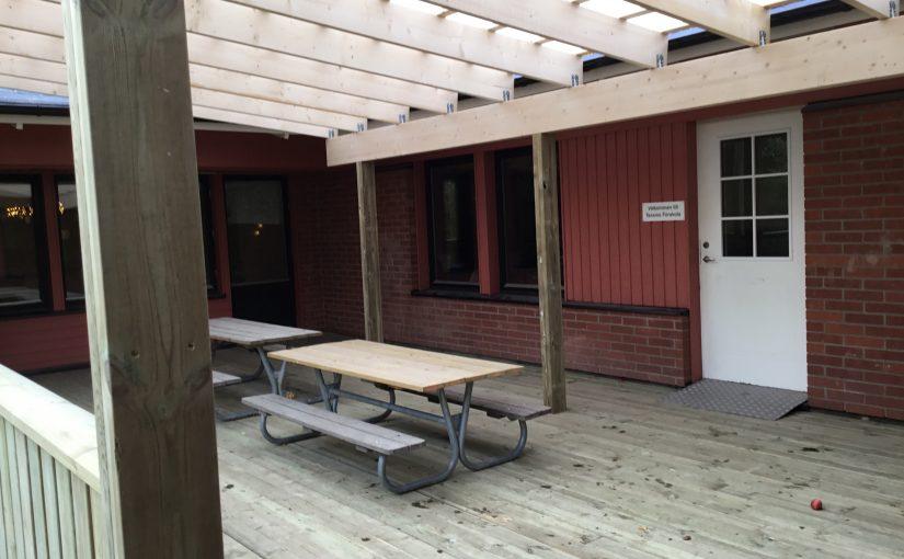"""Vi inviger vår nya """"veranda"""""""